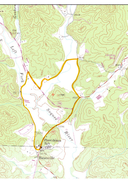 Soque River Ramble 6K Run & Walk Course Elevation Map