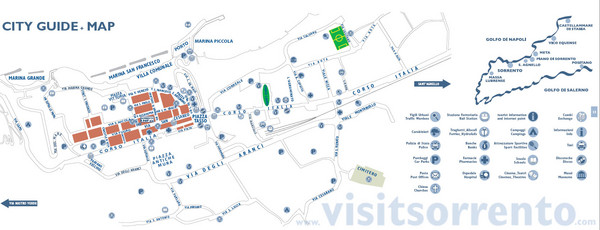 Sorrento Tourist Map