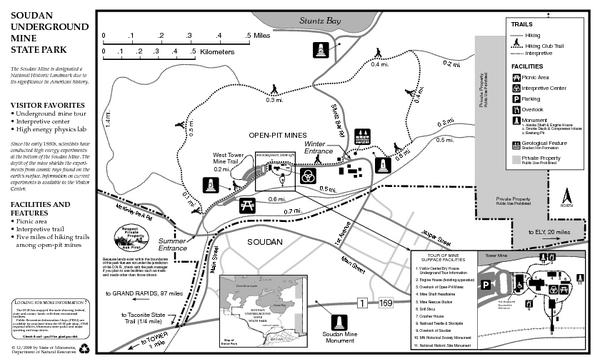 Soudan Underground Mine State Park Map - Soudan Underground