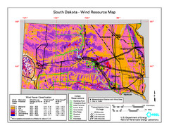 Sourth Dakota Wind Resource Map