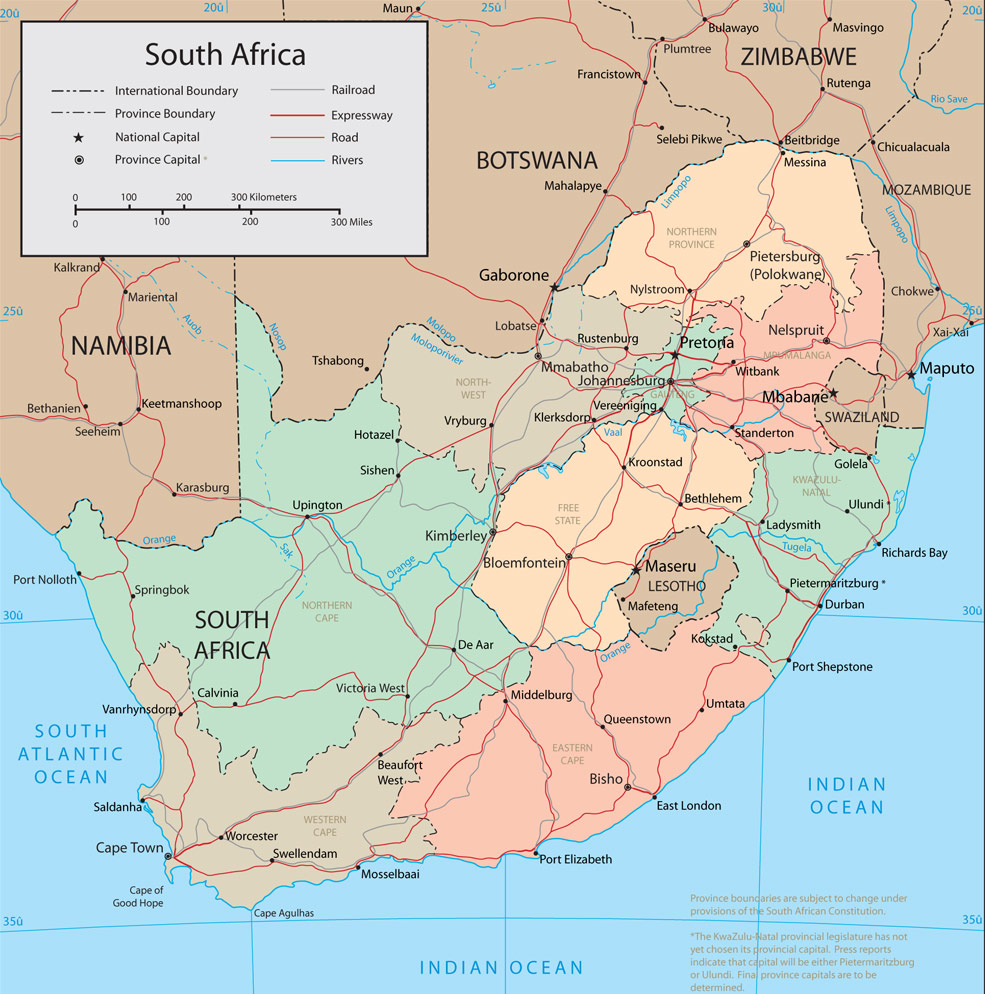 South Africa Tourist Map South Africa Mappery - Map of south africa with cities