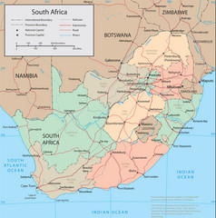 South Africa Tourist Map