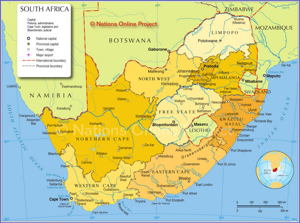 real life map collection mappery – Tourist Attractions Map In South Africa