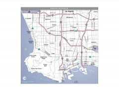 South Beach Cities, Los Angeles, California Map