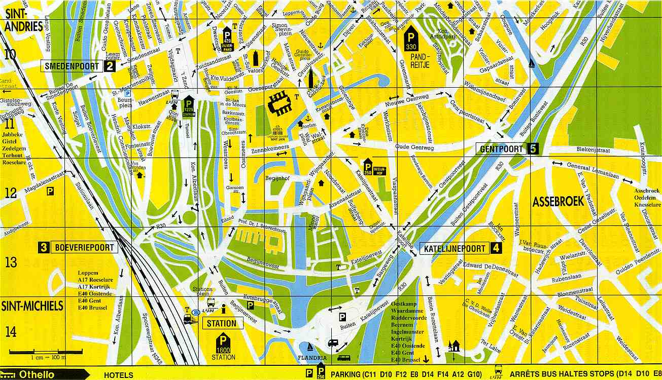 South Bruges Map Bruges Belgium mappery