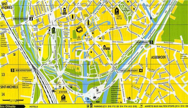 Ghent Walking Tour Map Ghent Belgium mappery