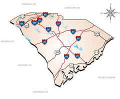 South Carolina Interstate Map