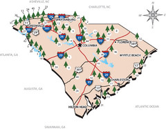 South Carolina State Park Map