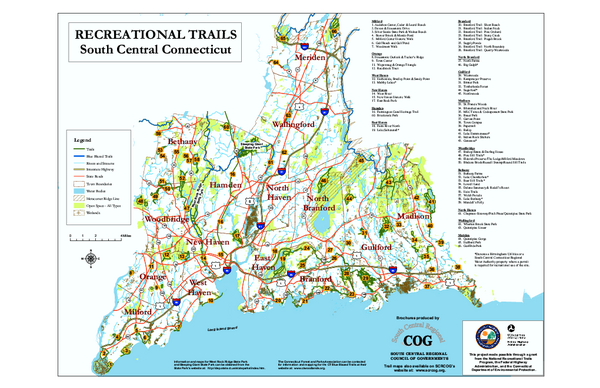 South Central Connecticut Recreational Trail Map