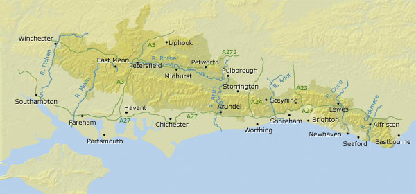 South Downs Map