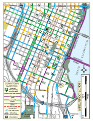 South Downtown Portland Bike Map