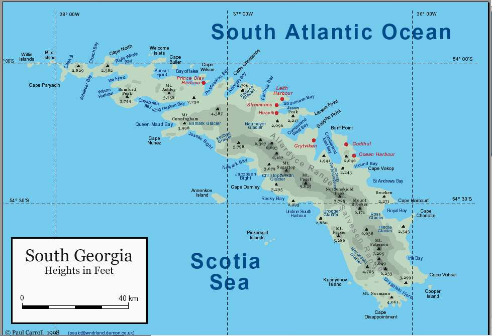 South Georgia And South Sandwich Islands Map South Georgia And - Georgia map islands
