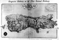 South Island New Zealand Rail Map