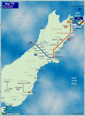 South Island Rail Map