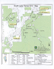 South Lake Tahoe Off-Highway Vehicle Map