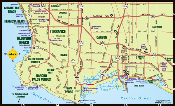 real life map collection mappery – Los Angeles Tourist Attractions Map
