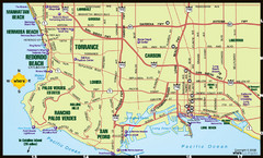 South Los Angeles Tourist Map