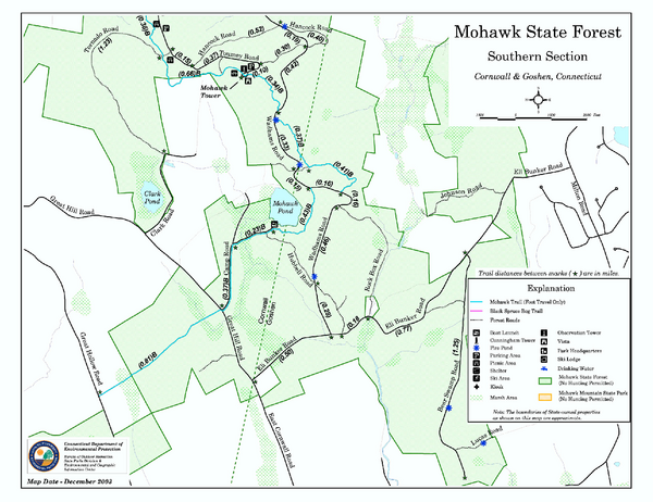 South Mohawk Mountain State Forest (Summer Trails) Map