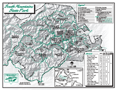 South Mountains State Park map