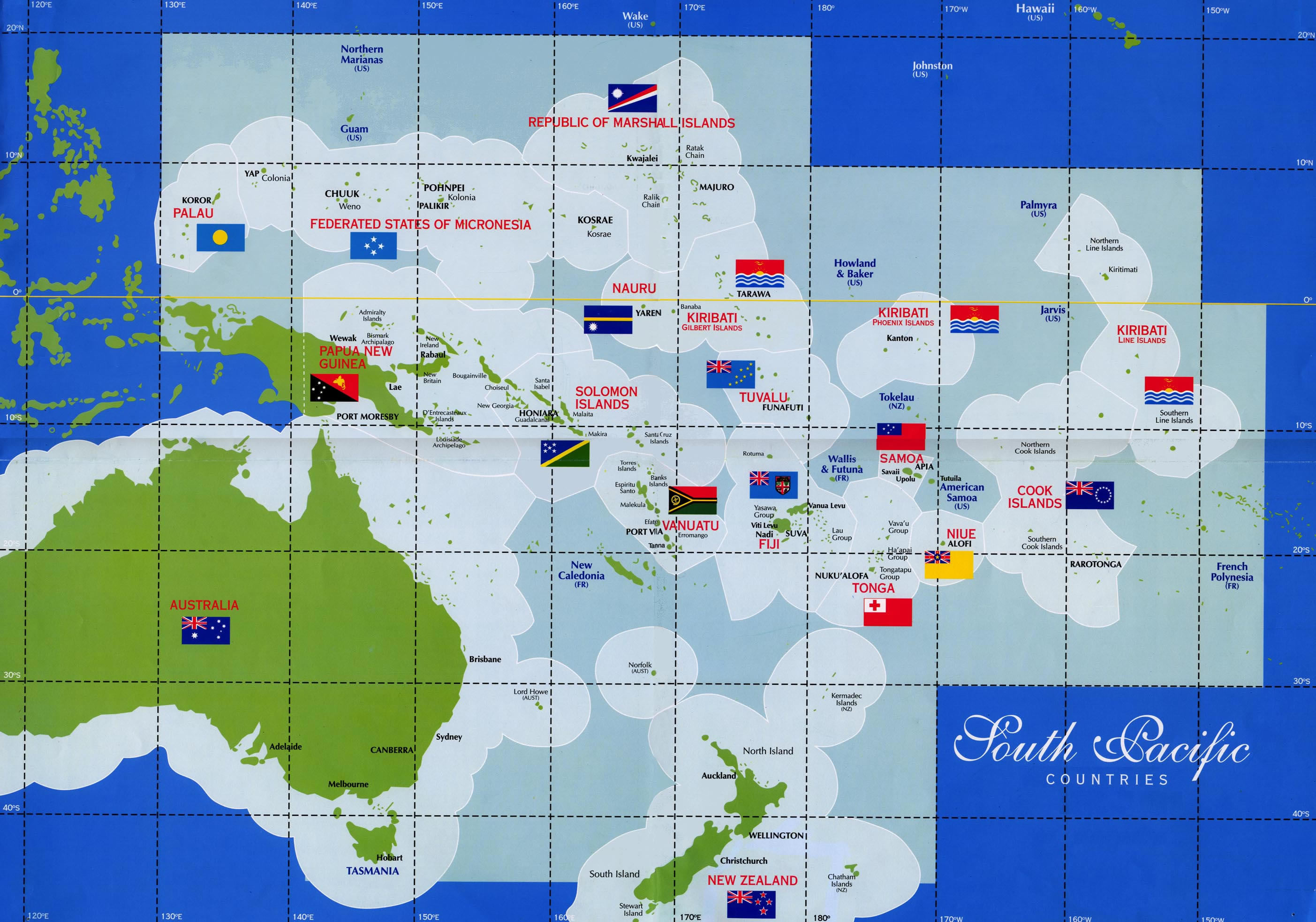 . south pacific countries map  thikombia fiji • mappery