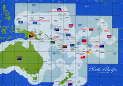 South Pacific Countries Map