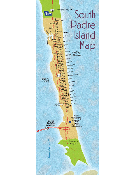 Map Of San Padre Island Texas
