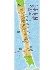 South Padre Island Map