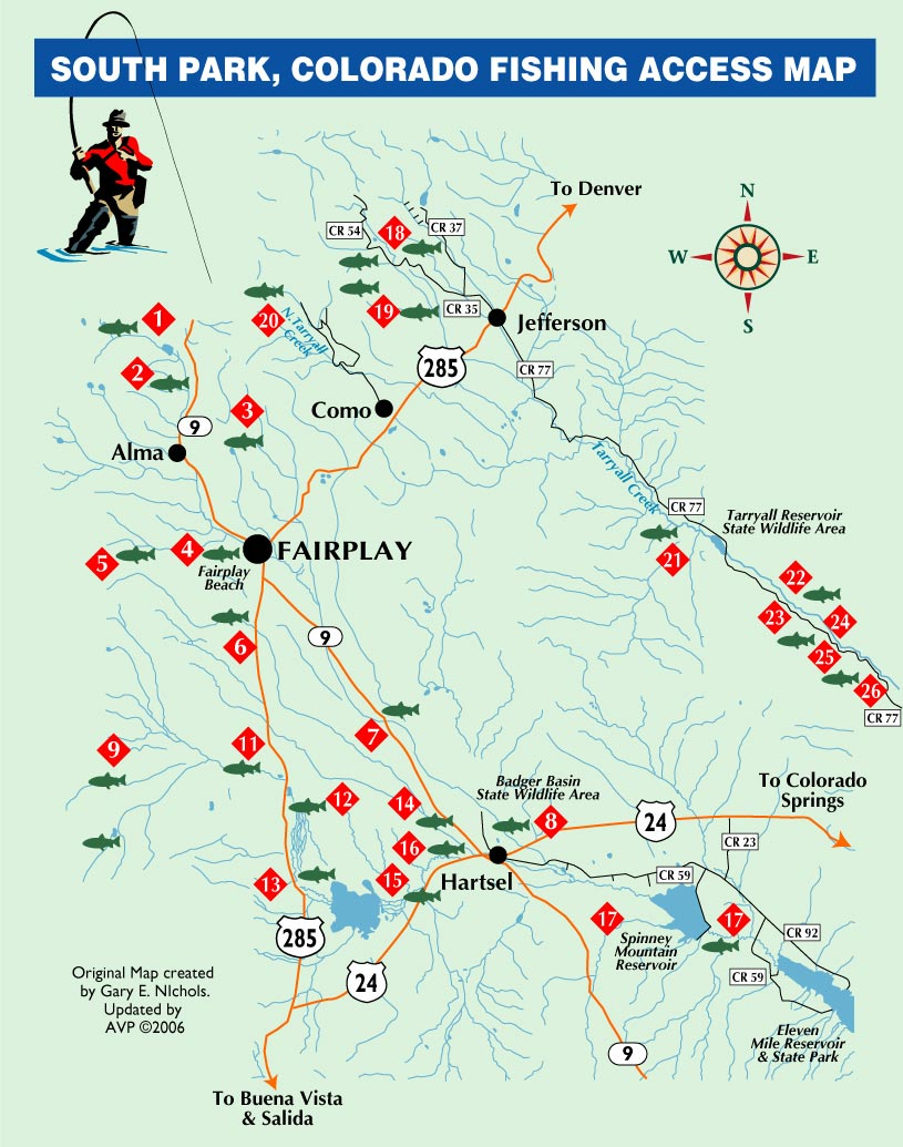 South parkcolorado fishing map south park co mappery for Antero reservoir fishing