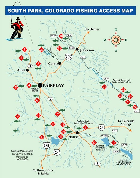 South ParkColorado Fishing Map   South Park CO • mappery