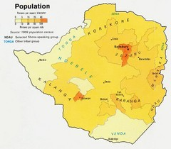 South Rhodesia Population Map