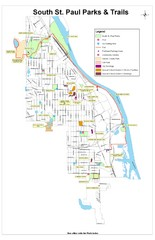 South St. Paul Parks and Trails Map