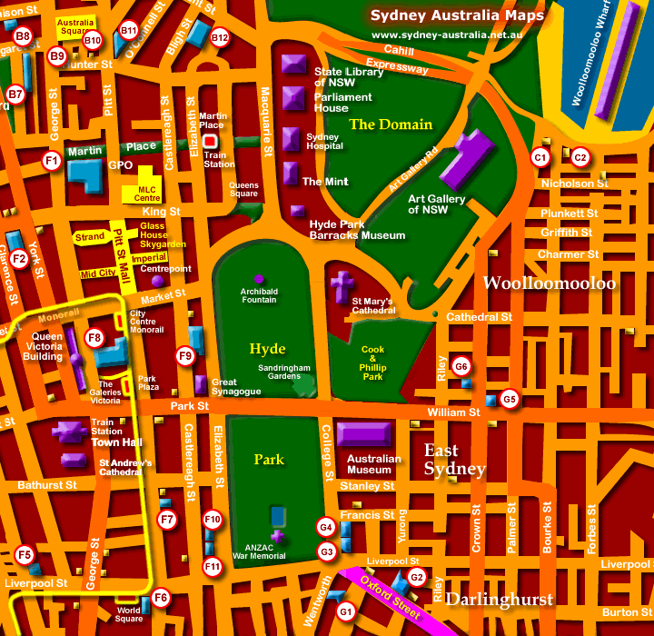 South Sydney Hotel Map Sydney mappery – Tourist Map of Sydney