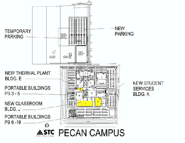 South Texas College Pecan Campus Map Mcallen Texas Mappery