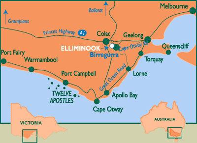 Road Map Victoria Australia.South Victoria Australia Tourist Map Victoria Australia Mappery