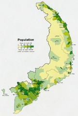 South Vietnam Population Map