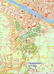 South-West Area of Florence Map