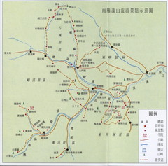 South Yandang Mountain Tourist Map