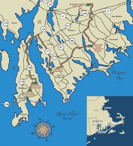Southeastern New England Wine Trail Map