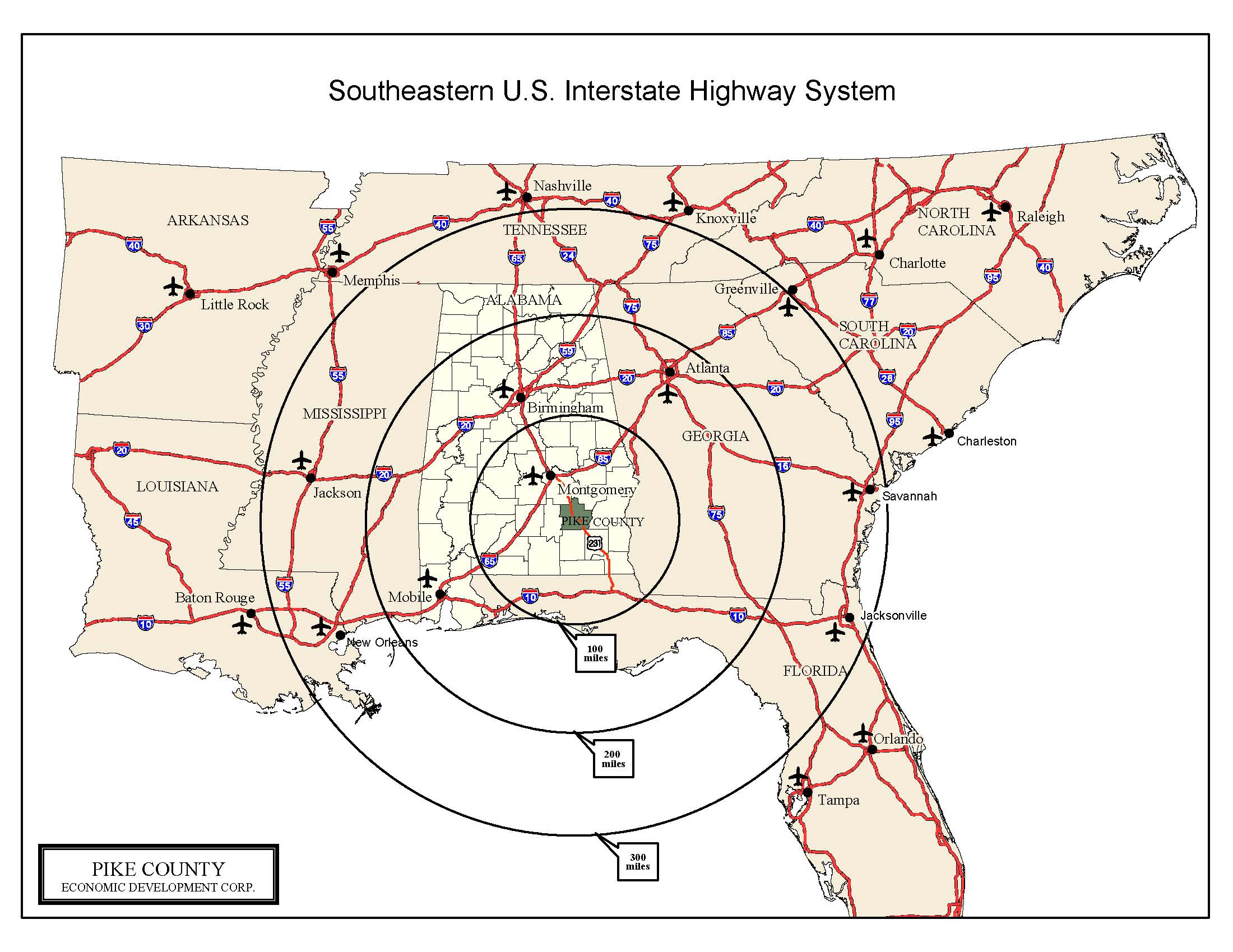 Southeastern US Map Southeastern United States  Mappery - Map of southeast us