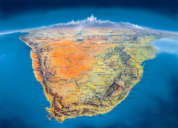 Southern Africa Panorama Map