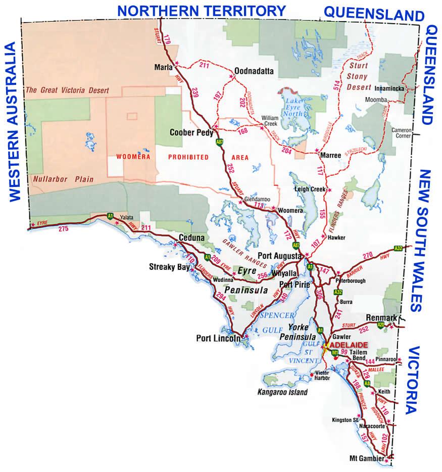 southern australia area map port lincoln australia mappery