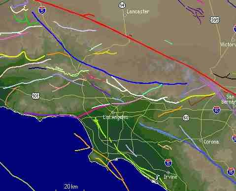 Southern California Fault Lines Map Palmdale Ca Mappery - Fault line map us
