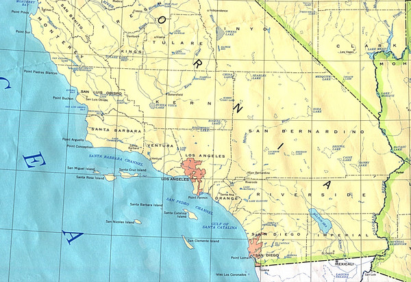 Southern California Map