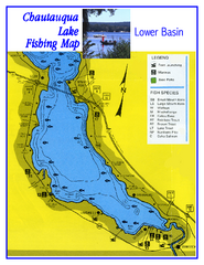 Southern Chautauqua Lake Fishing Map