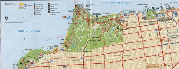 Southern Golden Gate National Recreation Map