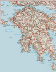 Southern Greece Map