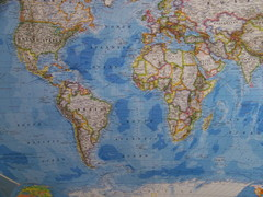 Southern Hemisphere World Map