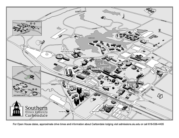 Southern Illinois University Carbondale Map Carbondale Illinois