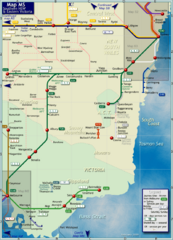 Southern New South Wales Rail Map