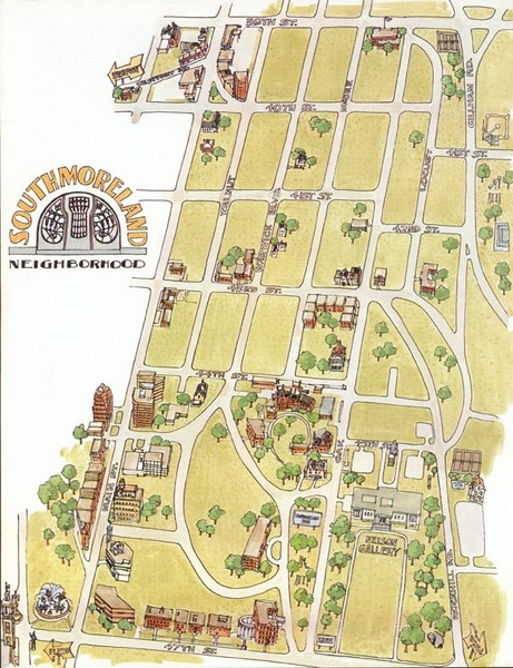 Southmoreland, Kansas City Tourist Map